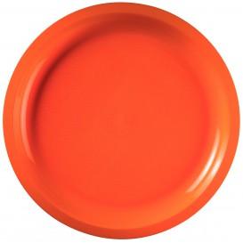 Plato de Plastico Naranja Round PP Ø290mm (300 Uds)