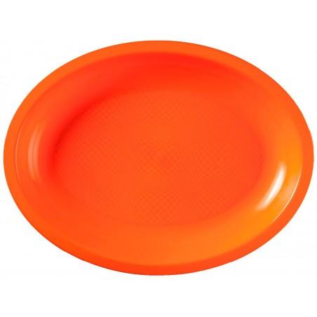 Bandeja Ovalada Naranja Round PP 255x190mm (600 Uds)