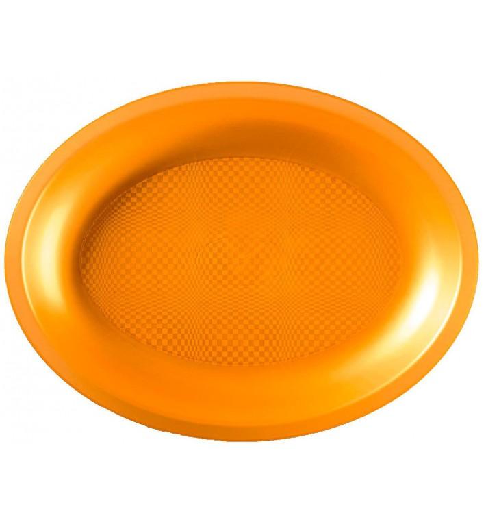 Bandeja Ovalada Oro Round PP 255x190mm (125 Uds)