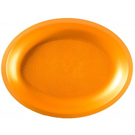 Bandeja Ovalada Oro Round PP 315x220mm (10 Uds)