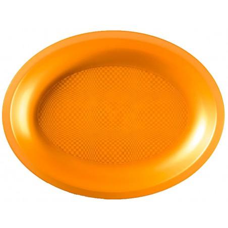 Bandeja Reutilizable PP Ovalada Round Oro 31,5x22cm (240 Uds)