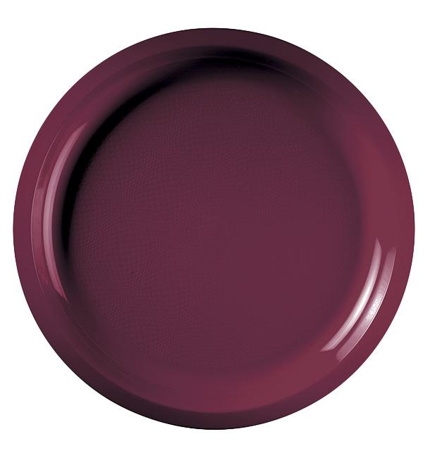 Plato de Plastico Burdeos Round PP Ø290mm (150 Uds)
