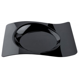 Plato Degustacion Forma Negro 22x18 cm (12 Uds)