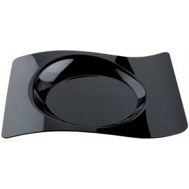 Plato Degustacion Forma Negro 28x23 cm (12 Uds)