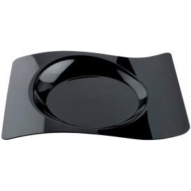 Plato Degustacion Forma Negro 28x23 cm (180 Uds)
