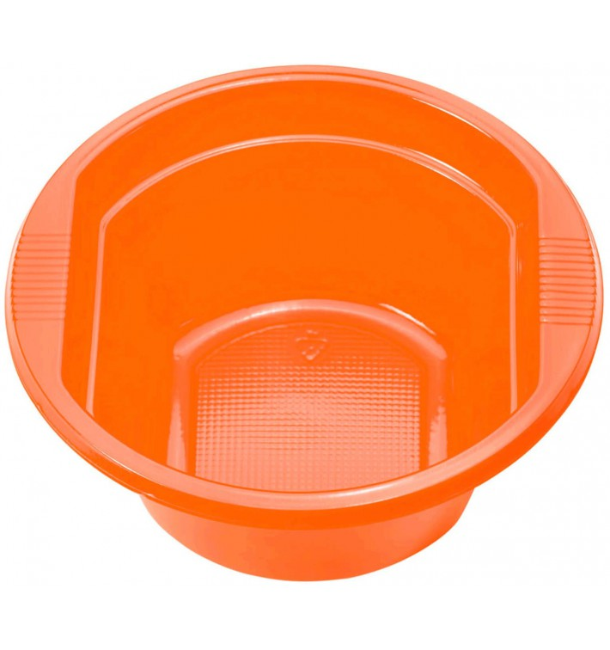 Bol de Plástico PS Naranja 250ml Ø12cm (30 Uds)