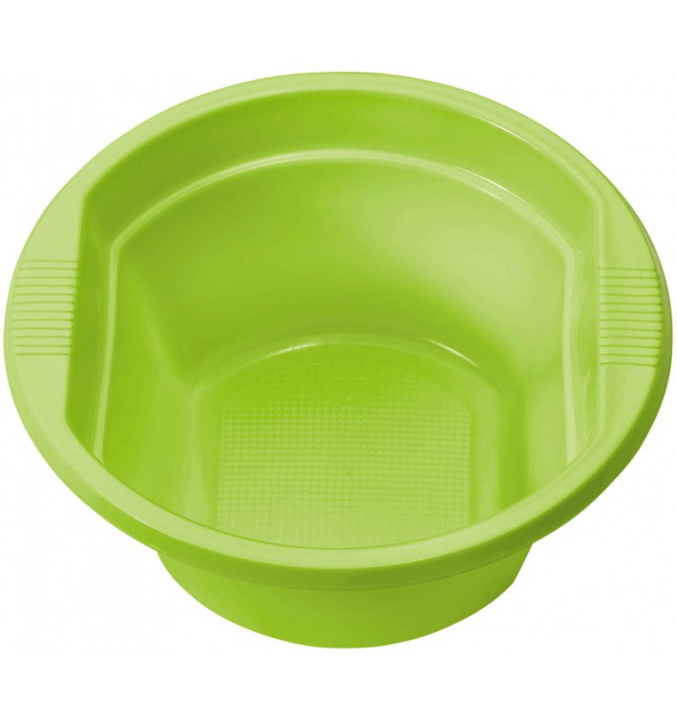 Bol de Plástico PS Verde Lima 250ml  Ø12cm (30 Uds)