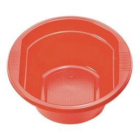 Bol de Plástico PS Rojo 250 ml Ø12cm (30 Uds)