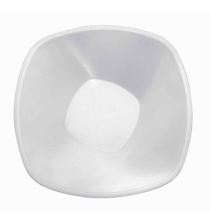 Bol de Plastico Blanco Square PP Ø210mm 1250ml (30 Uds)