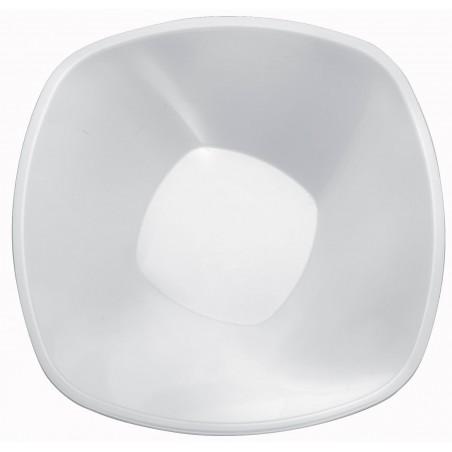 "Bol de Plástico PP Blanco ""Square"" 3000ml Ø27,7cm (30 Uds)"