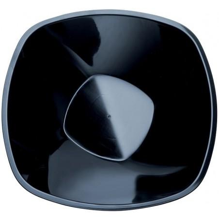 "Bol de Plástico PP Negro ""Square"" 3000ml Ø27,7cm (3 Uds)"