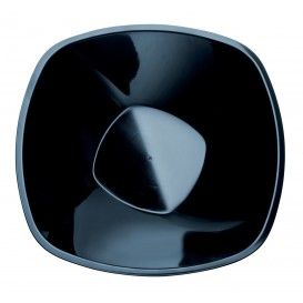 Bol de Plastico Negro Square PP Ø210mm 1250ml (30 Uds)