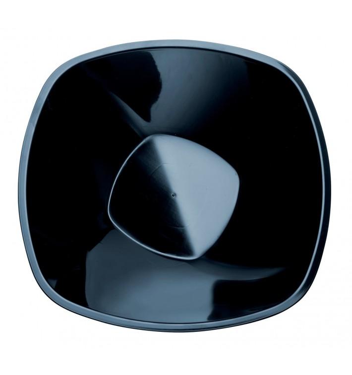 "Bol de Plástico PP ""Square"" Negro 1250ml Ø21cm (3 Uds)"