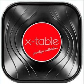 """Bol de Plastico PP """"X-Table"""" Cuadrado Negro 180x180mm (120 Uds)"""