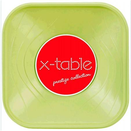 "Bol de Plastico PP ""X-Table"" Cuadrado Lima 180x180mm (8 Uds)"