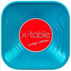 """Bol de Plastico PP """"X-Table"""" Cuadrado Turquesa 180x180mm (120 Uds)"""
