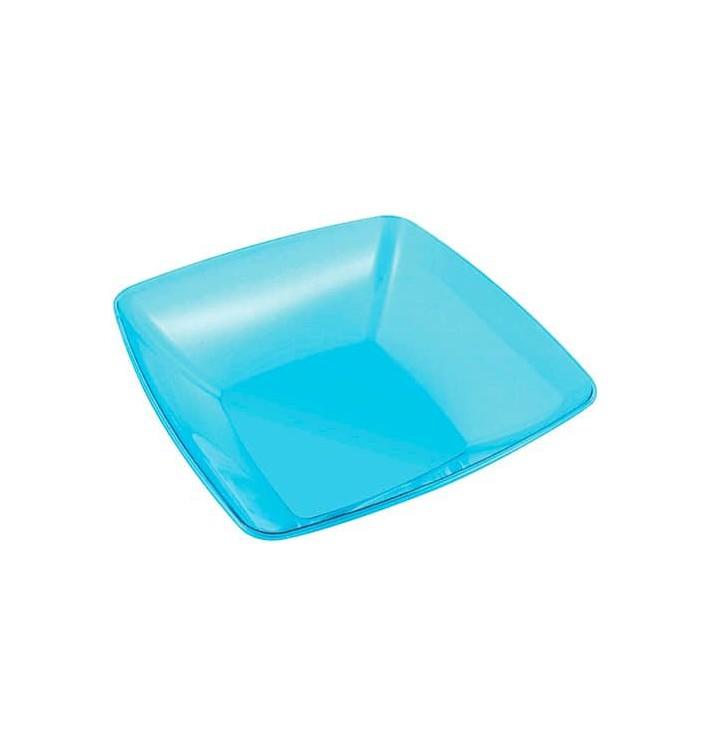 Bol de Plastico Cuadrado Turquesa 28x28cm (1 Uds)