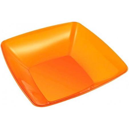 Bol PS Cristal Duro Naranja 3500ml 28x28cm (20 Uds)