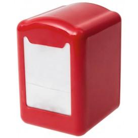 Dispensador Servilletero Plástico Rojo Miniservis 17x17 (12 Uds)
