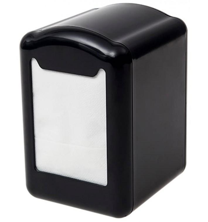 Dispensador Servilletero Plástico Negro Miniservis 17x17 (1 Ud)
