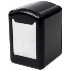 Dispensador Servilletero Plástico Negro Miniservis 17x17 (12 Uds)