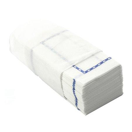 Servilleta de Papel Zigzag Blanco Cenefa 14x14cm (30000 Uds)