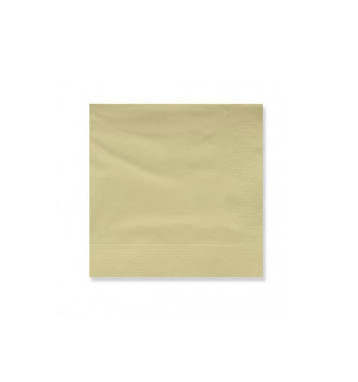 Servilleta Papel Cenefa 20x20 2C Crema (100 Uds)