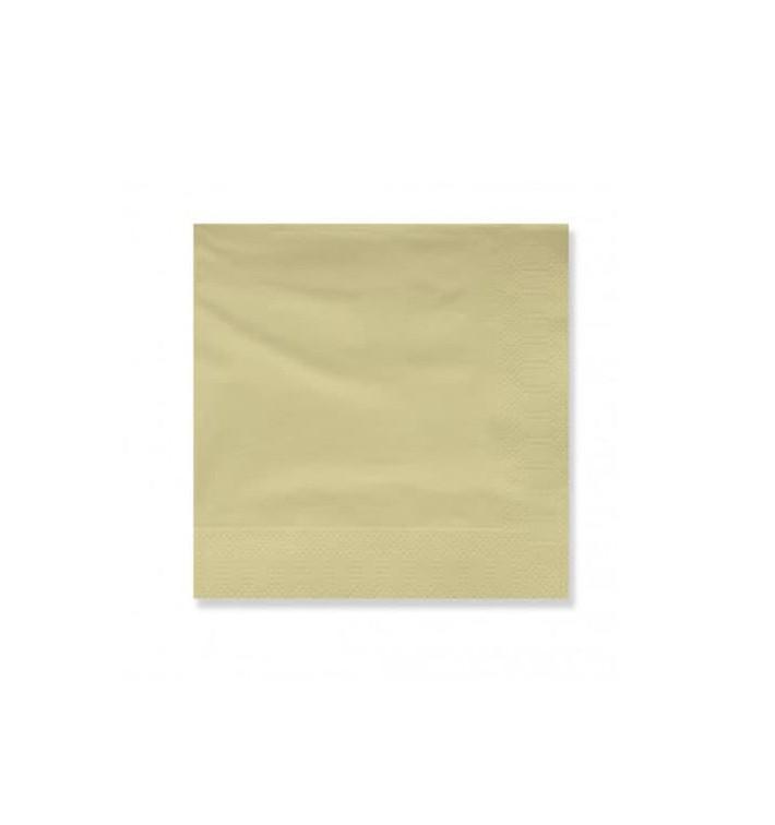Servilleta Papel Cenefa 20x20 2C Crema (6000 Uds)