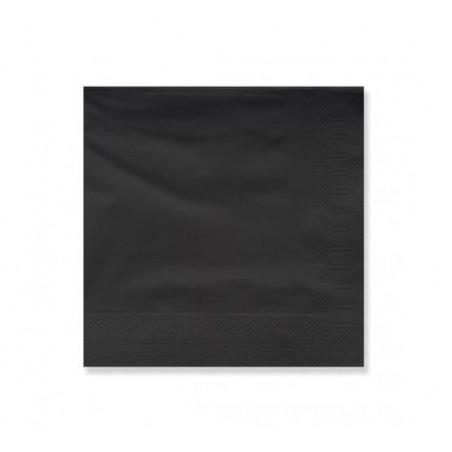 Servilleta de Papel Cenefa 25x25cm Negra (3600 Uds)