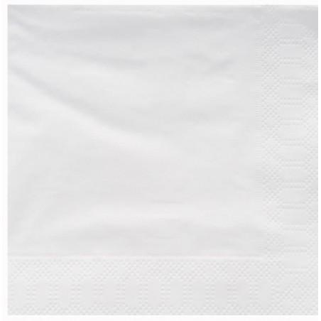 Servilleta de Papel Cenefa 25x25cm 2C Blanca (200 Uds)