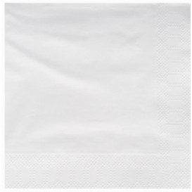 Servilleta de Papel Cenefa 25x25cm 2C Blanca (3400 Uds)