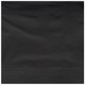 Servilleta de Papel Cenefa 25x25cm Negra (200 Uds)