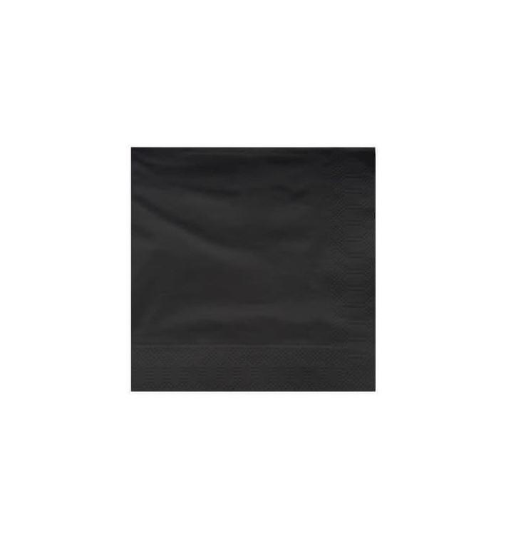 Servilleta de Papel Cenefa 25x25cm Negra (100 Uds)