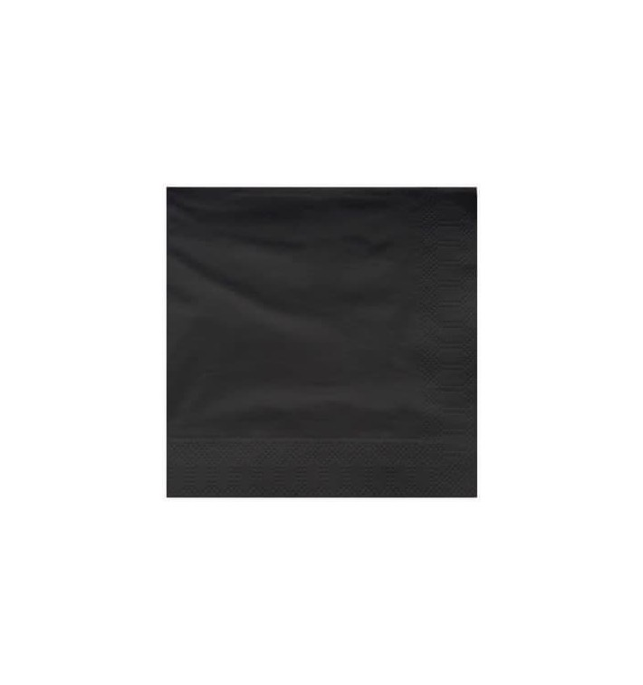 Servilleta de Papel Cenefa 25x25cm 2C Negra (3400 Uds)