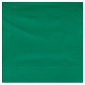Servilleta de Papel Cenefa 25x25cm 2C Verde (200 Uds)