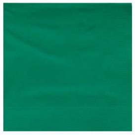 Servilleta de Papel Cenefa 25x25cm Verde (200 Uds)