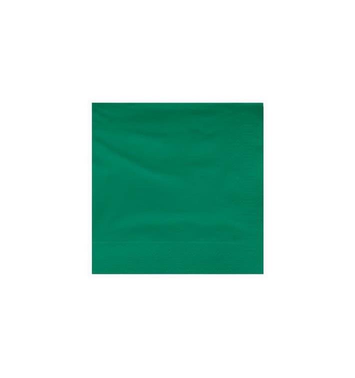 Servilleta de Papel Cenefa 25x25cm Verde (100 Uds)