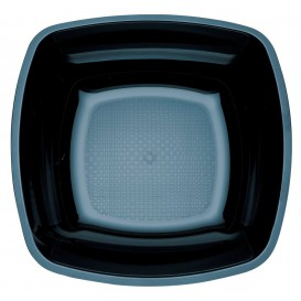 Plato de Plastico Hondo Negro 180mm (25 Uds)