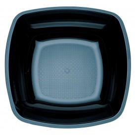 Plato de Plastico Hondo Negro Square PS 180mm (300 Uds)
