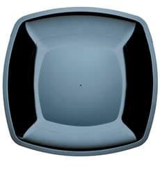 Plato de Plastico Llano Negro Square PS 300mm (144 Uds)