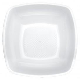 Plato de Plastico Hondo Blanco Square PP 180mm (25 Uds)