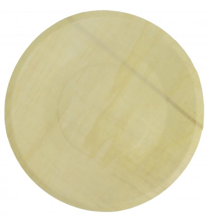 Plato de Madera Redondo Ø21,5cm (250 Uds)