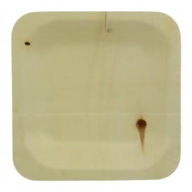 Plato de Madera Cuadrado 11,5x11,5cm (400 Uds)