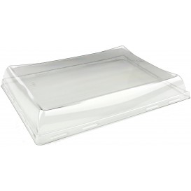 Tapa de Plastico PET Bandeja de 220x160mm (50 uds)