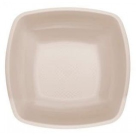 Plato de Plastico Hondo Beige PP 180mm (150 Uds)