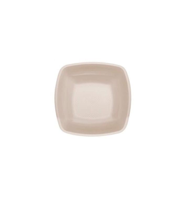 Plato de Plastico Hondo Beige Square PP 180mm (300 Uds)