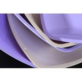 Plato de Plastico Llano Beige Square PP 180mm (25 Uds)