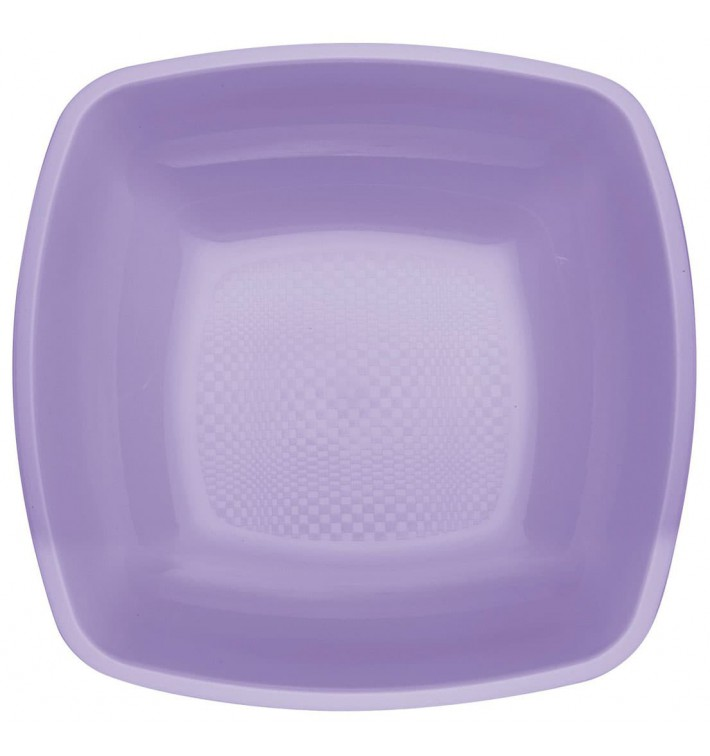 Plato de Plastico Hondo Lila Square PP 180mm (300 Uds)