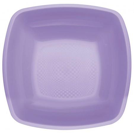 Plato de Plastico Hondo Lila Square PP 180mm (150 Uds)