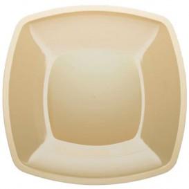 Plato de Plastico Llano Crema Square PS 300mm (72 Uds)